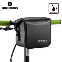 ROCKBROS Bike Accessories Waterproof Bike Bicycle Bag 3 4L Handlebar Front Tube Bag Bicycle Pocket Shoulder