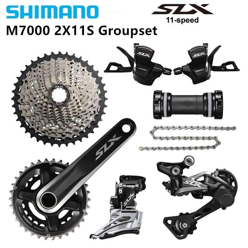 <font><b>Shimano</b></font> <font><b>Slx</b></font> <font><b>M7000</b></font> 1for 30 22 S Velocity <font><b>Groupset</b></font> Mountain Bike Bicycle Mountain Bike Kit image