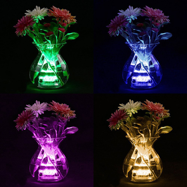 10 Led Remote Controlled RGB Submersible Light Battery Operated Underwater Night Lamp Outdoor Vase Bowl Garden Party Decoration 5