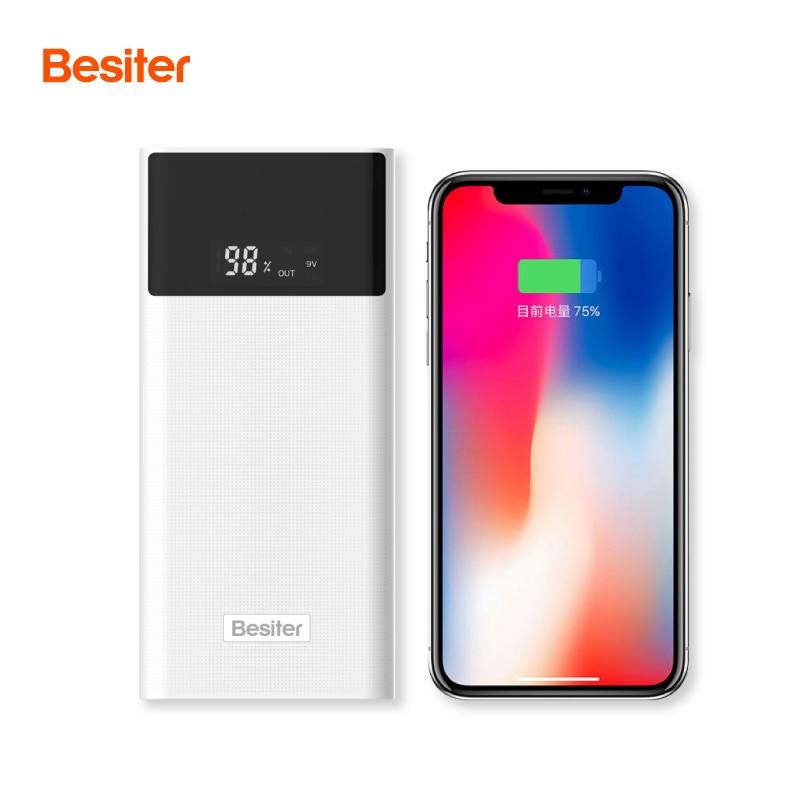 Besiter Puissance Banque 20000 mah Pour Xiao mi mi 2 charge rapide 3.0 Powerbank portable Chargeur Externe Batterie Pour Iphone pau Banque
