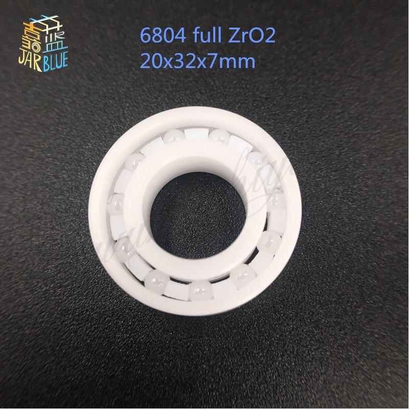 Free shipping 6804 full ZrO2 ceramic deep groove ball bearing 20x32x7mm free shipping 697 619 7 7x17x5 mm full zro2 ceramic ball bearing