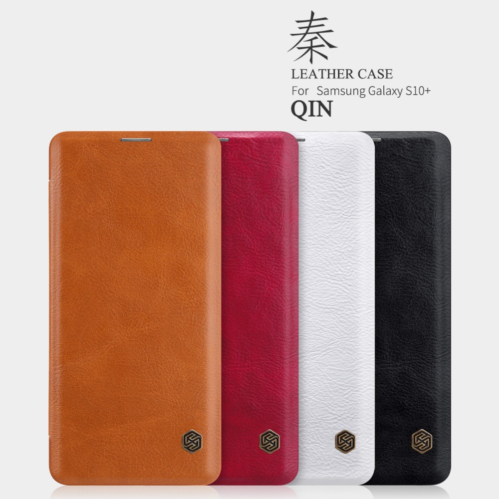 10pcs/lot Wholesale NILLKIN Qin Series Wallet Flip Leather Case For Samsung Galaxy S10 plus Genuine Flip Leather Case-in Flip Cases from Cellphones & Telecommunications    1