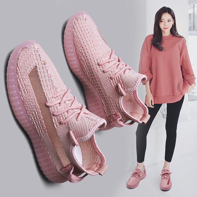 New 2019 Fashion Sneakers Women Casual Shoes Breathable Mesh Summer High Quality Running Shoes Yonggeb89
