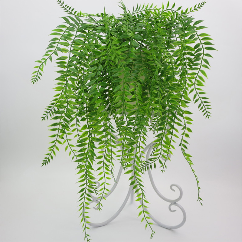 Home Wedding Decoration Reen Hanging Plant Artificial Plant Willow Wall  Balcony Decoration Flower Basket Accessories