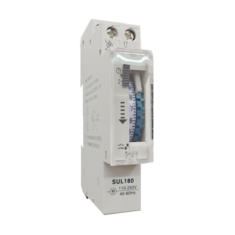 20PCS DIN Rail SUL180a Time Switch Mechanical Timer Switch 24 Hours Programmable Timer 16A Time Switch