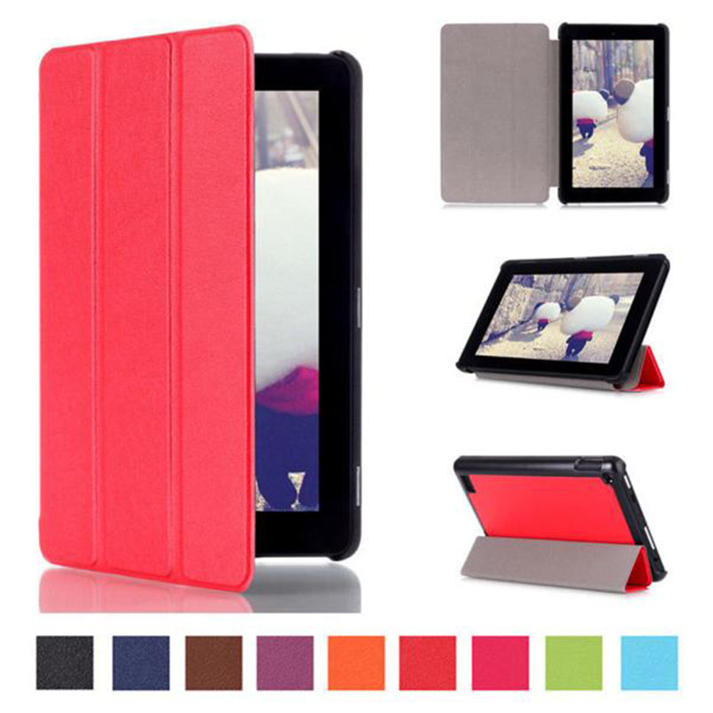 Reliable 2017 Tri-Fold Leather Stand Case Cover for Amazon Kindle Fire 7 inch (2015 Edition) ocube 50pcs lot tri foldings print painting stand pu leather case cover for amazon kindle fire hd 7 2017 7tablet