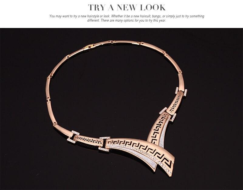 Amader Europe & America Sweet Fashion Vintage crystal Nuevo Collar - Bisutería - foto 4