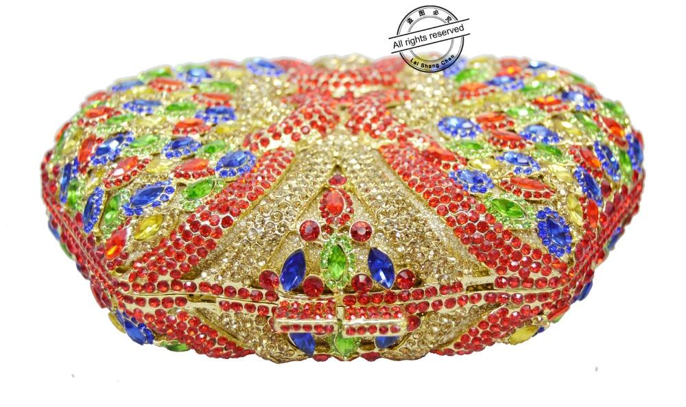 Soirée Evening Mariage Rouge Sc130 Parti Laisc Cristal Bourse Bags Sacs Strass Luxe Sac Bags Forme De Main Women Chaîne Femmes Boîte women À Embrayages 6qRRfXw