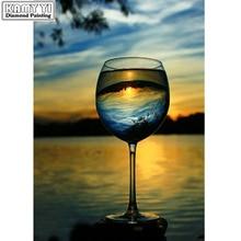 Полный квадратный дрель 5D DIY Алмазная вышивка чашка пейзаж алмазная живопись вышивка крестиком горный хрусталь мозаика украшения
