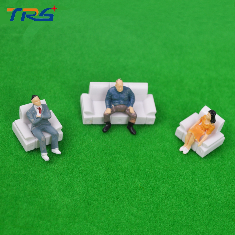 HO Scale 10sets Inner Landscape Scenery Model Sofa for Architecture layout in scale 1:87