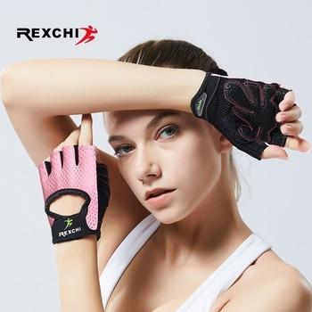 REXCHI profesjonalne rękawice do ćwiczeń na siłownię podnoszenie ciężarów kobiety mężczyźni Crossfit trening kulturystyka pół osłona na palce dłoni tanie i dobre opinie Podnoszenie ciężarów rękawice SA-HA0001