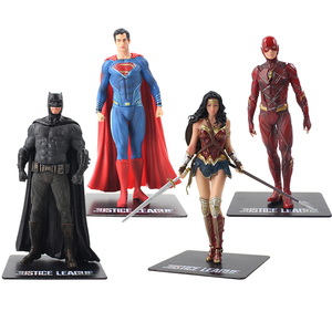 Image 2 - Figura prepintada de la Liga de la justicia de los vengadores, estatua de superhéroes de PVC, Flash Batman, Superman, Wonder Woman, ARTFX, escala 1/10, 18cm