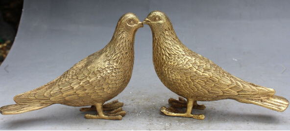 YmyingChinese Bronze Symbolize Peaceful Peace Dove Pigeon
