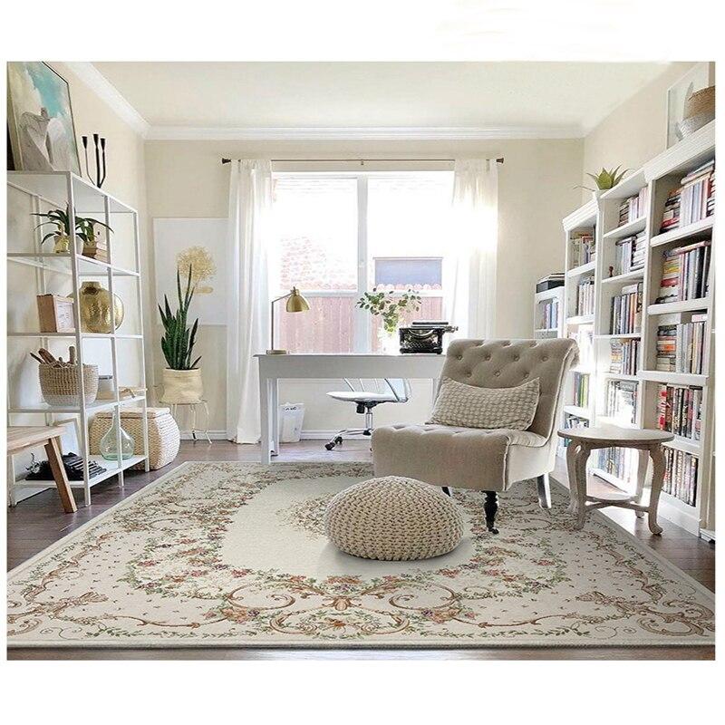 Pastorale motif Floral Chenille matériel nordique maison tapis tapis salon chambre étude table basse décoratif chambre