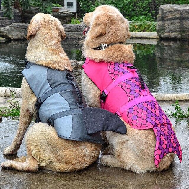 Pet Dog Life Jacket Coat Vest Cosplay Golden Retriever Swimsuit