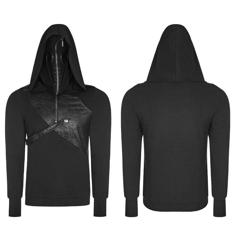 Мужские толстовки в стиле Панк Rave, куртки и пальто, Модный пуловер в стиле панк, Черная мужская повседневная куртка с капюшоном в стиле хип хоп, уличная одежда - 4