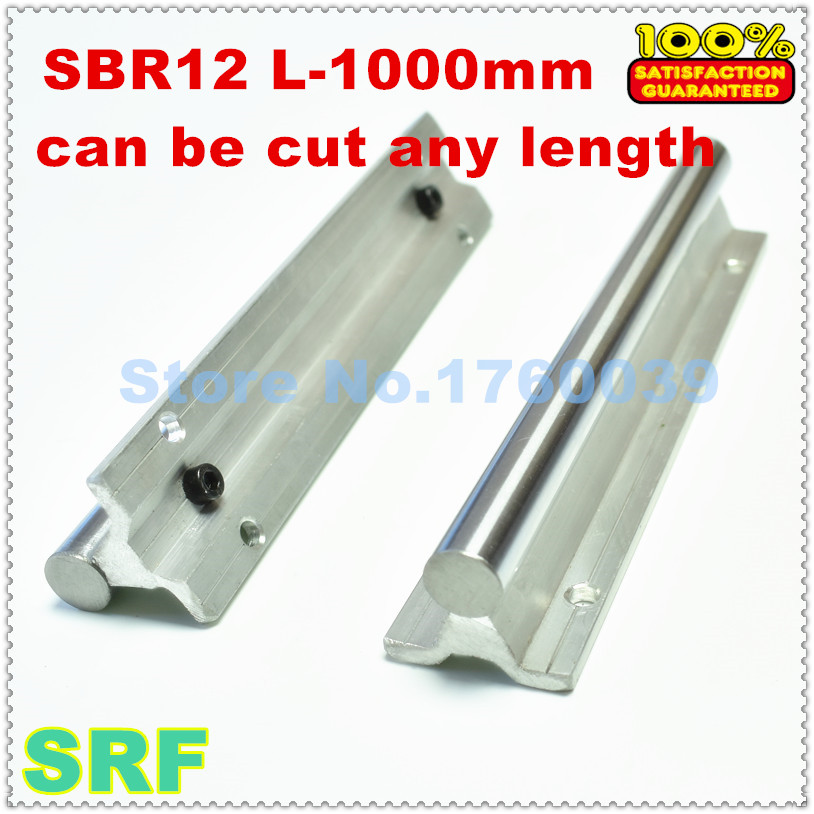 1pcs 12mm linear shaft rail SBR12 L1000mm chrome plated quending hard guide shaft chrome plated wired control plate for jazz bass total approx 152 54 mm l 344