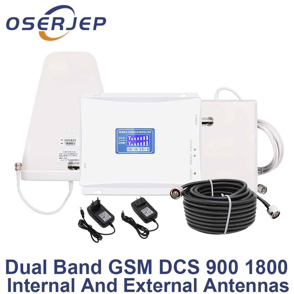 LCD Display GSM 900 4G 1800 mhz Dual Band Repeater GSM 4G LTE Phone Amplifier Cellular