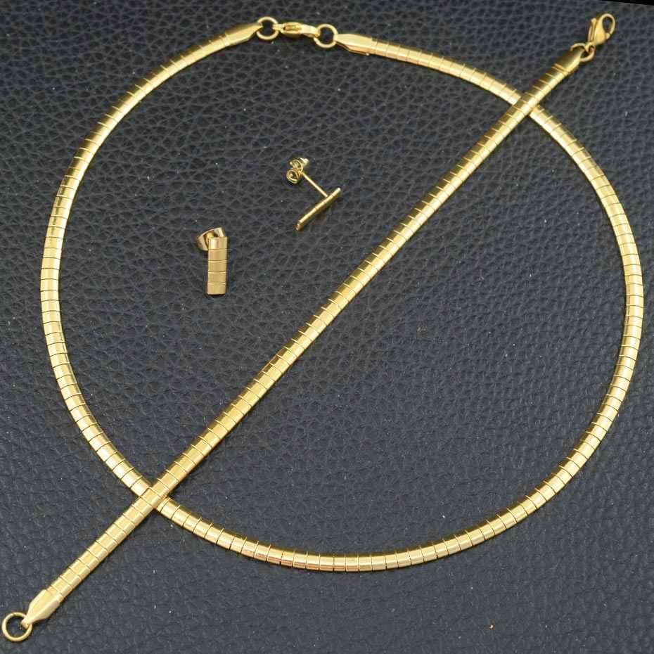 موضة مجوهرات من صلب لا يصدأ 3/4/6/8 مللي متر OMG ملون المختنق قلادة طوق مكتنزة للنساء العصرية ثعبان سلسلة هدية لفتاة
