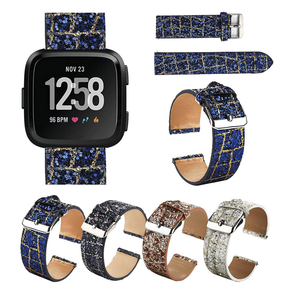 TexturBling Glitter Leather Wrist Strap Replacement Watch