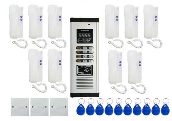 Audio Intercom Sicherheit & Schutz Energisch Xinsilu Drücken Sie Direkt Wählen Nicht-visuelle Gebäude Intercom System 10-wohnungen Audio Tür Telefon, Id Karte & Passwort Entriegelung Volumen Groß
