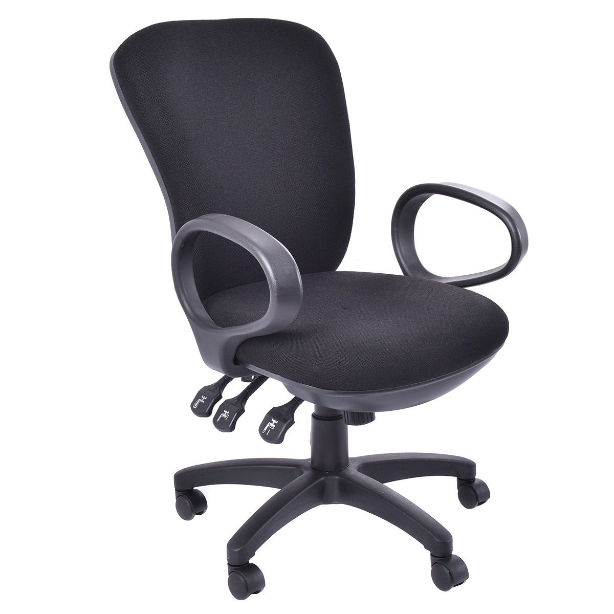 Giantex Mordern Ergonomic Mid-Back Gamign Chair Executive Computer Desk Task Office Chair Black Swivel furniture HW52597