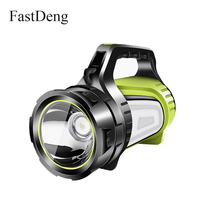 High Power Portable Spotlight Lantern Outdoor Camping Lamp Led Searchlight Hunting Handhold Rechargeable Waterproof Flashlight