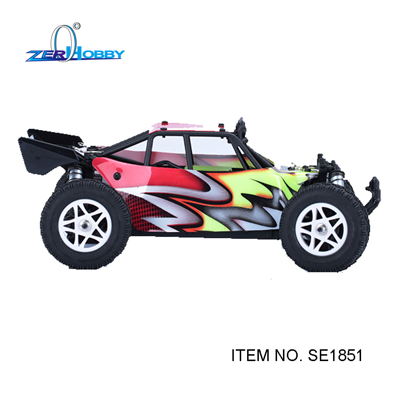 ФОТО supercar rc car toys 1:18 scale brushed motor engine electric powered remote control off road car toy rc car desert buggy SE1851