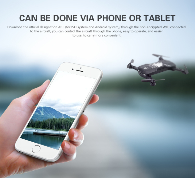 Professional WIFI FPV Foldable selfile remote control RC drone Mobile phone WiFi control With light Headless Mode kid best gift