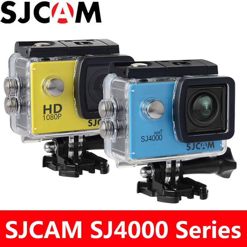 лучшая цена SJCAM SJ4000 Action Camera SJ4000 WiFi Sports DV Diving 30m Waterproof 2.0 inch LCD Screen Full HD 1080P Original SJ 4000 Cam