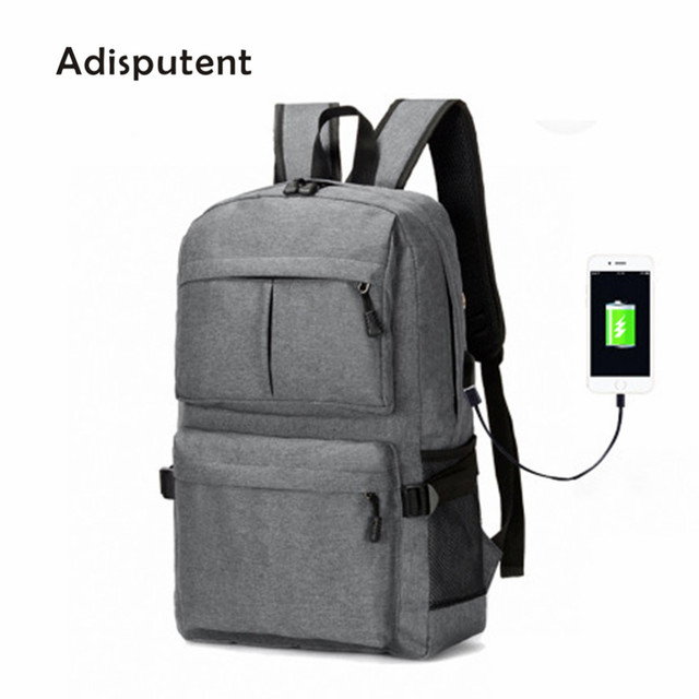 Adisputent Laptop Usb Backpack Book Bags For School Backpack Casual Rucksack Daypack Oxford Canvas Capacity Fashion Man Backpack