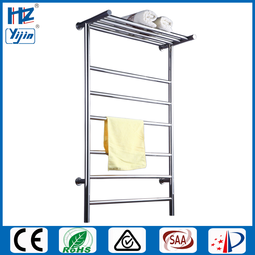 T shaped stainless steel 304 heated towel rail electric towel warmer rack modern towel shelf hanger for towels HZ-915A hotel decoration 304 stainless steel electric heating towel racks house furniture fitment appliance heating towel rack icd60048