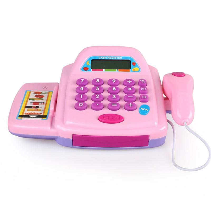 Multifunctional Kids Supermarket Play Set Cash Register Toy Electronic Children Learning Education Pretend Play Set
