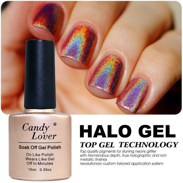 Candy Lover 10 ml Newest Chameleon Halo Nail Gel Polish Soak-Off LED/UV Gel Nail Polish Long-Lasting Hight Quality Gel Varnish