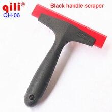 Черный скребок с пластиковой ручкой, лопаты для автомобиля, виниловая пленка, наклейка для обертывания окон, очистка воды, скребок, ТИНТ, инструмент