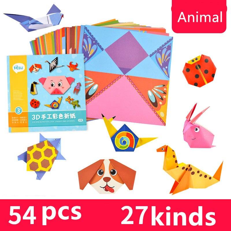 Aliexpress Buy 96pcs 14cm Cartoon Animal Origami Paper Double