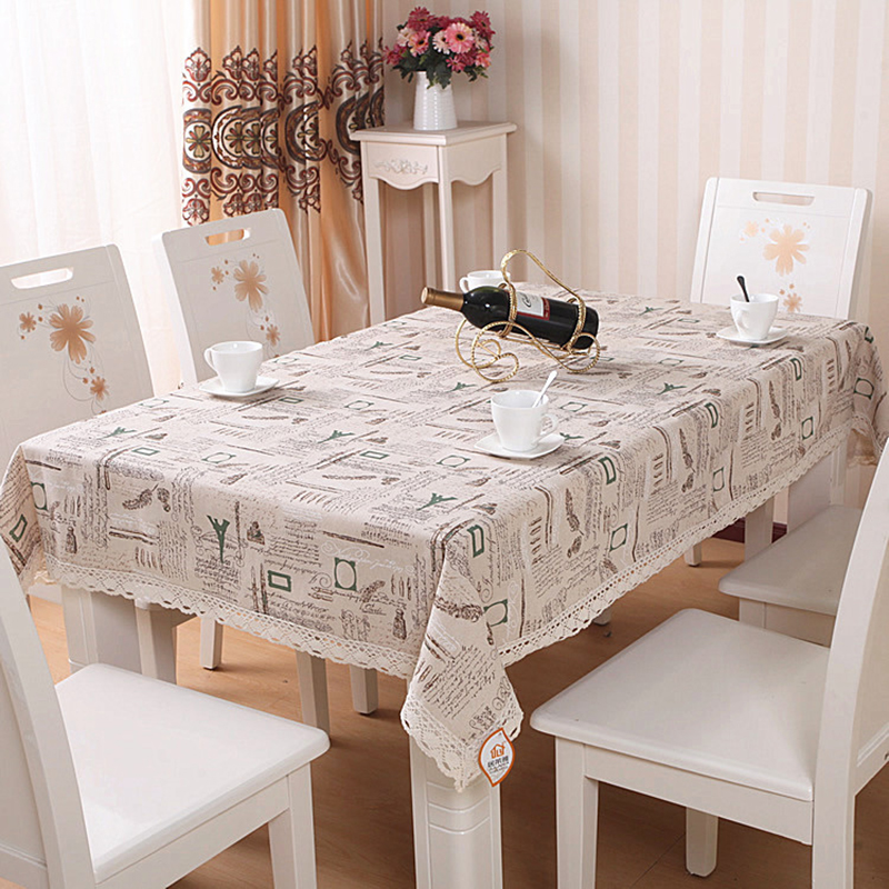 New 4 Style Cotton and linen Pastoral Tablecloth Table Cover Table Cloth Tableware Wedding Party Restaurant Banquet Home Decor