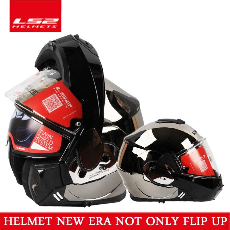 2017 nouveau Vaillant LS2 FF399 plein visage moto rcycle casque flip up double visor authentique porter des lunettes conception ECE cascos de moto helm