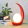 Modern Romantic Moon Desk Lamps Red/White Wedding Table Lights Fixture Home Indoor Bedroom Bed Side Reading Table Lamp 28cm*35cm