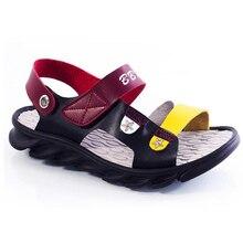 Wholesale summer season kinds beneath shade Pu comfortable leather-based Sandals outside seashore footwear trend women boys footwear Composite base lt1077