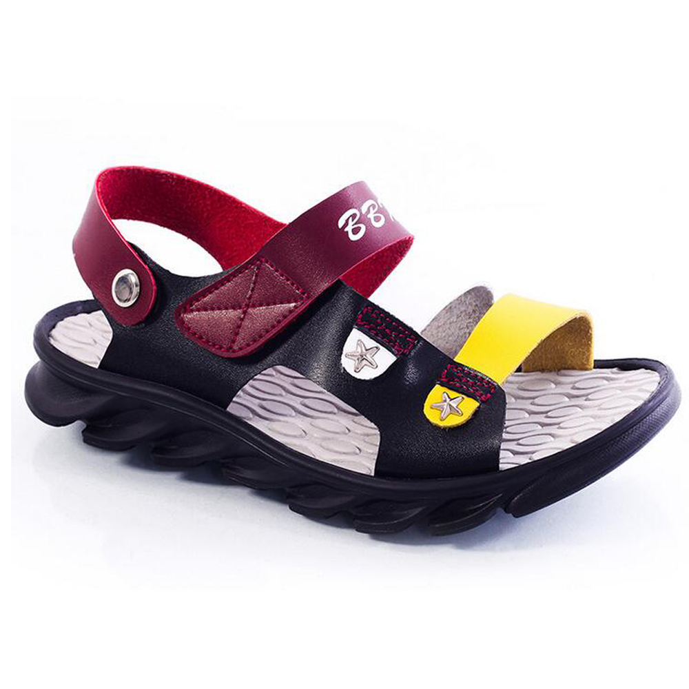 Wholesale summer styles under color Pu soft leather Sandals outdoor beach shoes fashion girls boys shoes Composite base lt1077