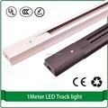 1m track light rail led rail for track light Aluminum lighting track rail 2 line