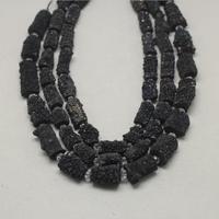Rough Titanium Rainbow Gun Black Druzy Achate Nugget Beads Bulk,Drilled Mystic Geode Achate Cylinder Loose Pendant Handmade