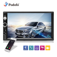 "Podofo 2din Car Multimedia Lettore MP5 Audio Stereo 2DIN Auto Radio 7 ""Schermo di Tocco di HD Display Digitale Bluetooth Autoradio USB FM"