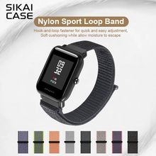 SIKAI 20mm Universal Replacement Nylon Bracelet For Xiaomi Huami Aamazfit Smartwatch Band Strap For huawei watch 2 Bracelets