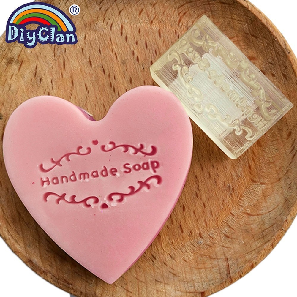 Handmade Soap Stamp Mold Simple Style Diy Logo Patterns Organic Chapter Acrylic Chapters Z0086HM