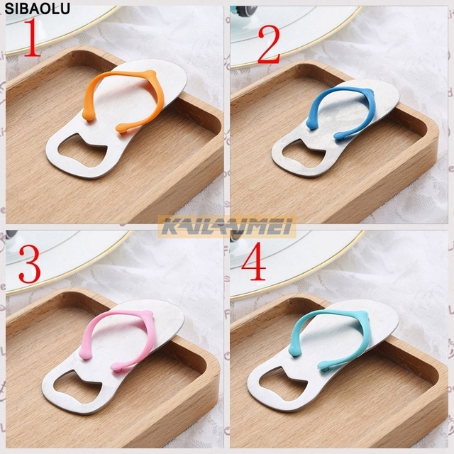 f8b04850589698 Amazing 200PCS Wedding Party Favor Gift Household Supply Flip Flop Beach  Thong Bottle Openers Slippers Design Beer Bottle Opener