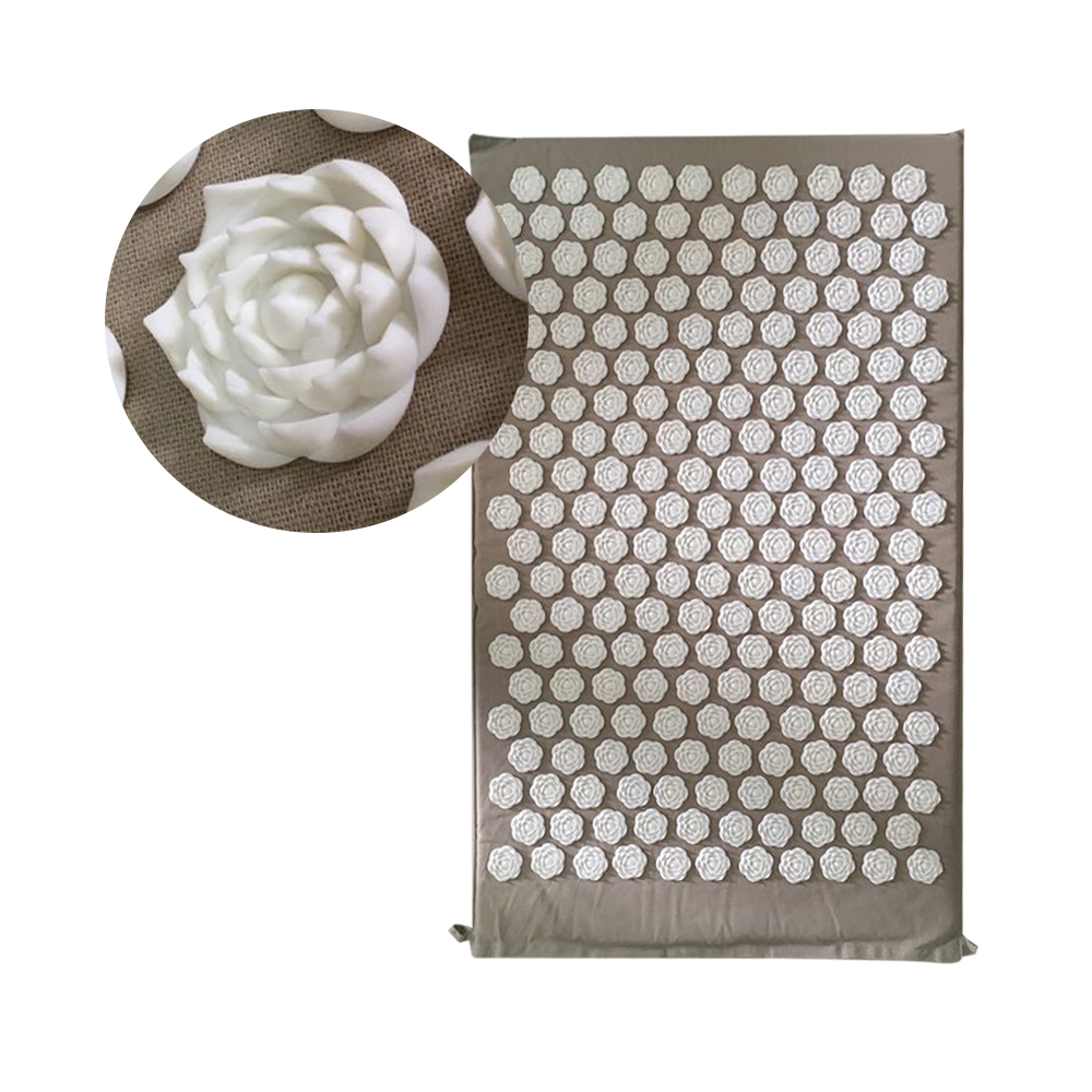 Gray Shakti Mat Rose Shape 25nails/spike Acupressure for Head Back Massage Pad Yoga Massager Relieve Mind Stress and Pain MP0102 synthia andrews acupressure and reflexology for dummies