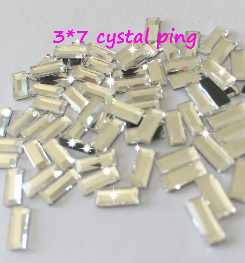 DIY strass Hot Sale square 3*7mm 200pcs/pack Glass Flatback Crystal Hotfix  Rhinestones iron on clothes glitter accessaires-in Rhinestones from Home &  Garden ...