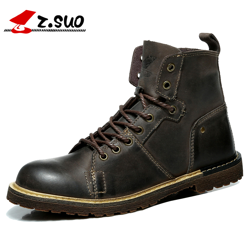 Z. Suo men 's boots, high quality leather fashion tooling boots man, leisure fashion qiu dong man boots. zs0213 цена